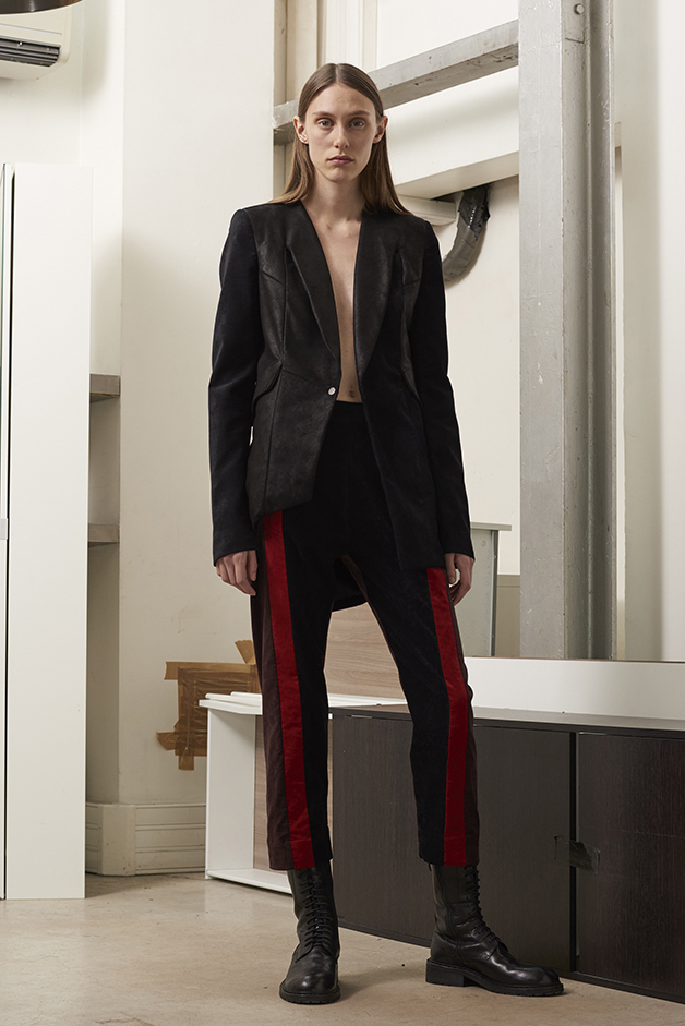 ILARIA NISTRI FALL WINTER 2016 COLLECTION blazer  leather pants