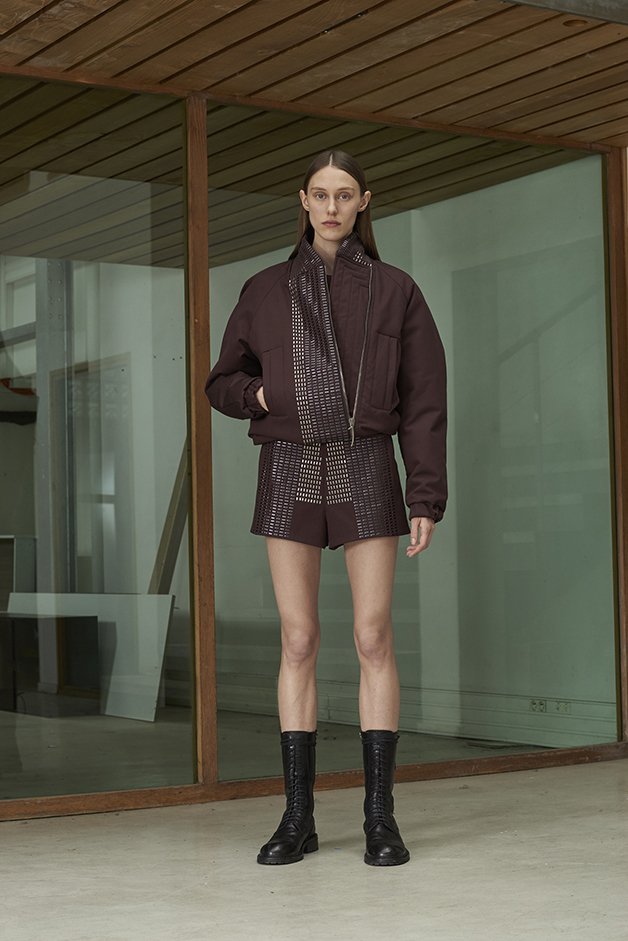 ILARIA NISTRI FALL WINTER 2016 COLLECTION bomber sweater shorts